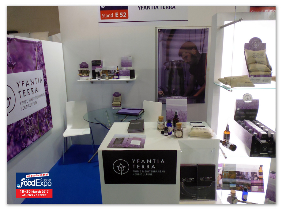 The stand of Yfantia Terra at the Food Expo Exhibition in Athens