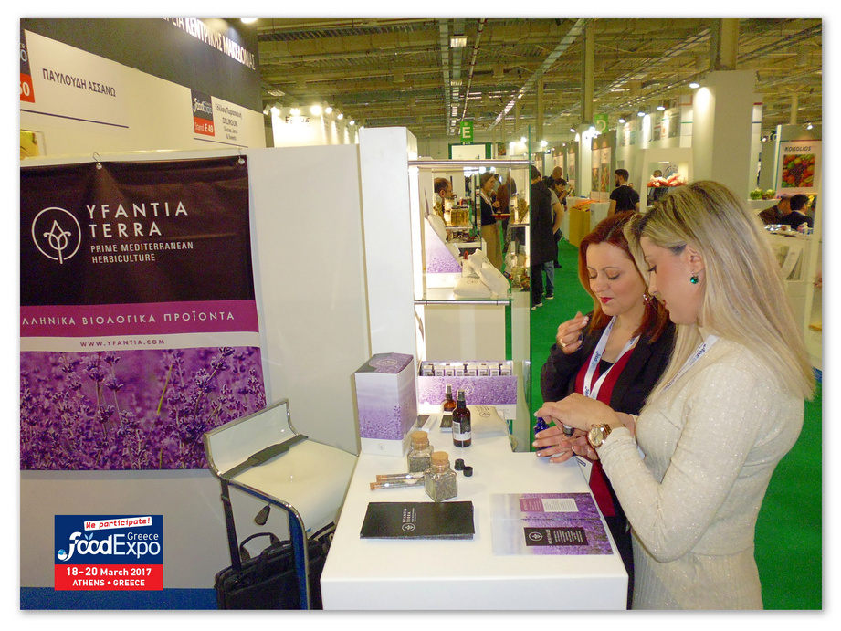 Visitors at Yfantia Terra's stand at the Food Expo Exhibition