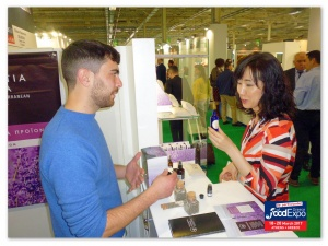George Yfantidis at Yfantia Terra's stand at the Food Expo Exhibition in Athens