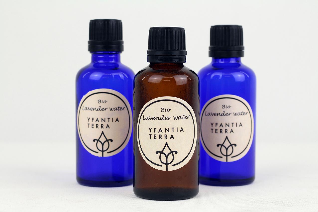 Yfantia Terra | Lavender water in 50ml spray-free bottles