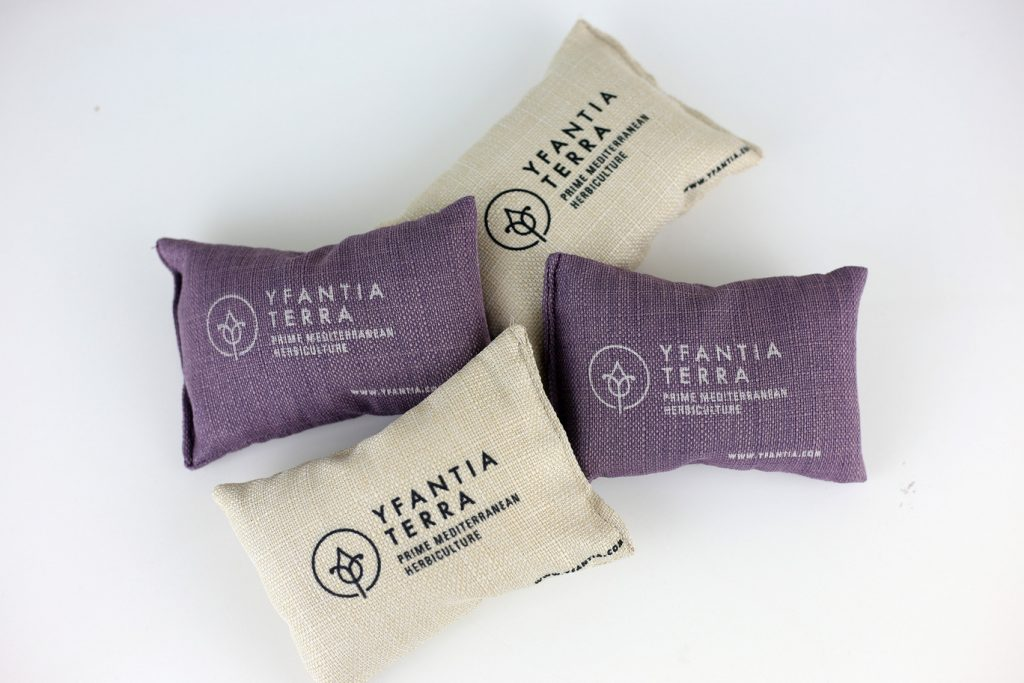 Yfantia Terra | Μαξιλαράκια με αποξηραμένα άνθη λεβάντας