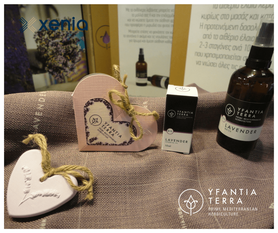 Essential oils, flower water and deodorants with lavender fragrance as welcome gifts and amenities for hotel units
