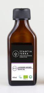 Yfantia Terra | Βιολογικό ελαιόλαδο, βιολογικό εκχύλισμα λεβάντας σε συκευασία 100ml